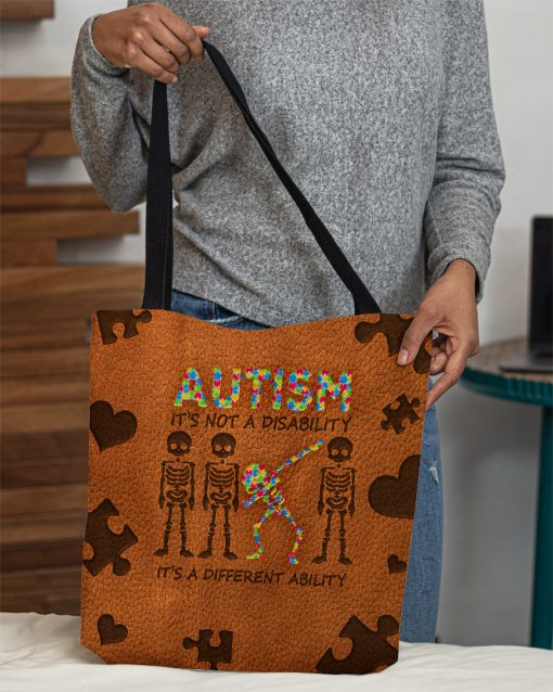Autism It's not a disability it's a different ability tote bag 2