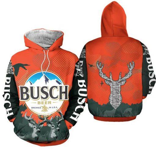Busch Beer Deer 3D hoodie