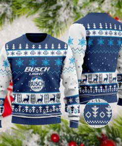 Busch Light Beer 3D Ugly Christmas Sweater