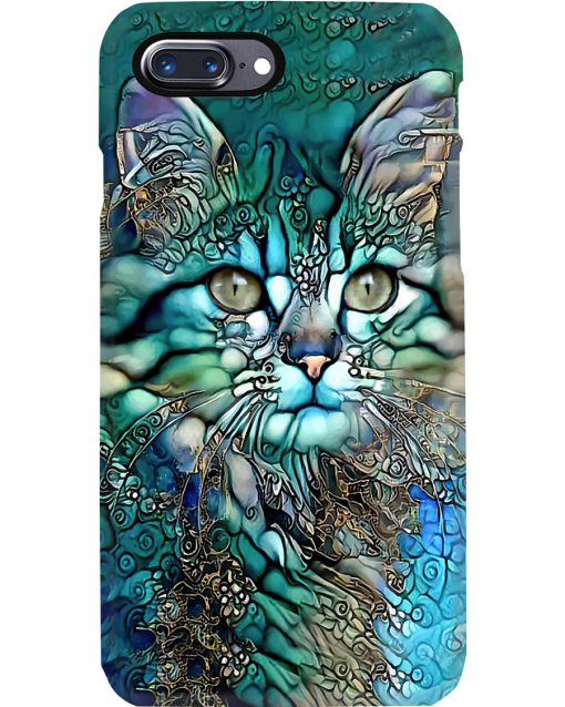 Cat face art phone case 7