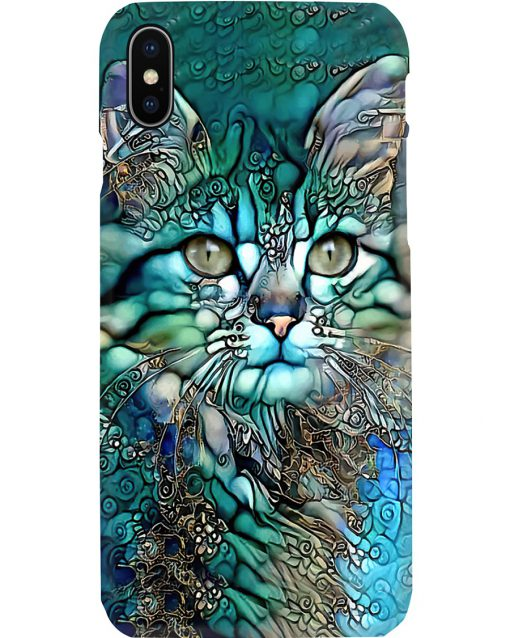 Cat face art phone case x