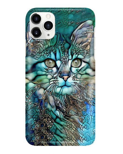 Cat face art phone case11