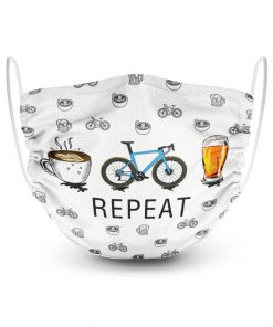 Coffee cycling beer repeat face mask
