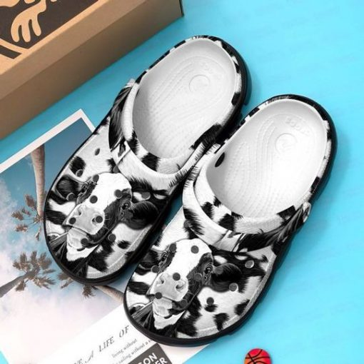 Cow black and white Crocs Crocband Clog1