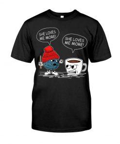 Crochet Vs Coffee She Loves Me More T-shirt