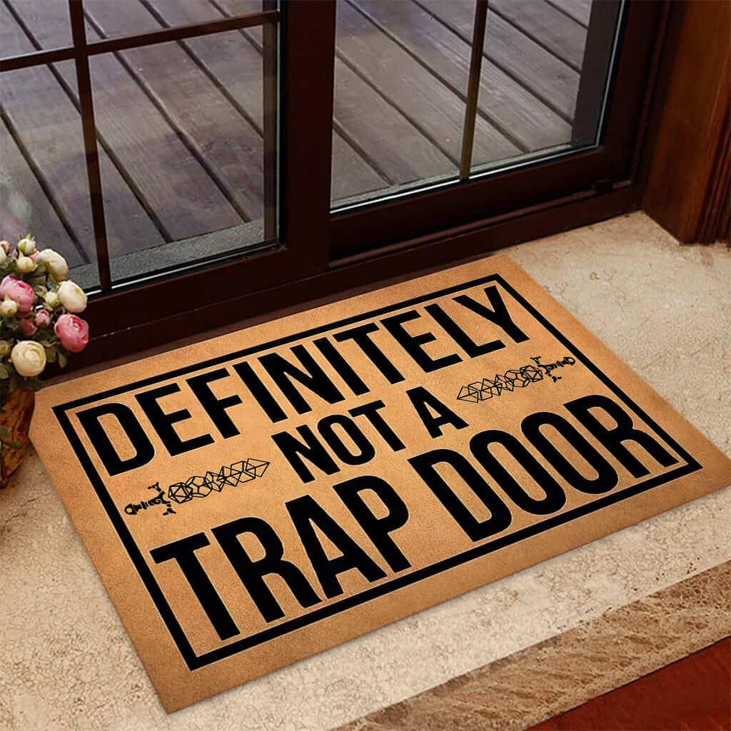 Definitely not a trap door doormat