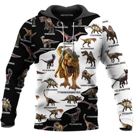 Dinosaurs 3D All Over Printed Hoodie