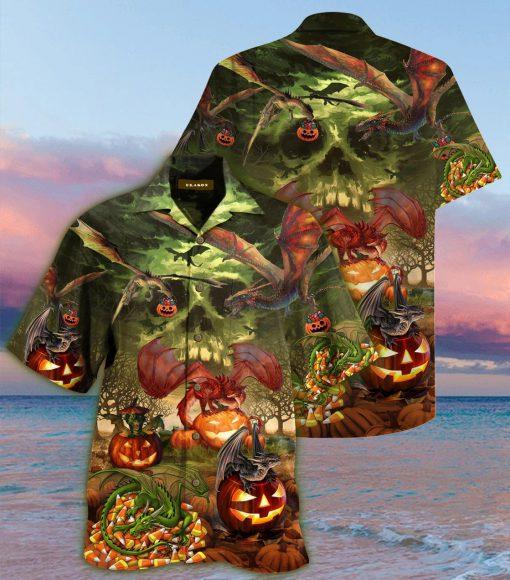 Dragon Halloween Unisex Hawaiian Shirt2