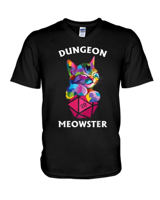 Dungeon Meowster V-neck