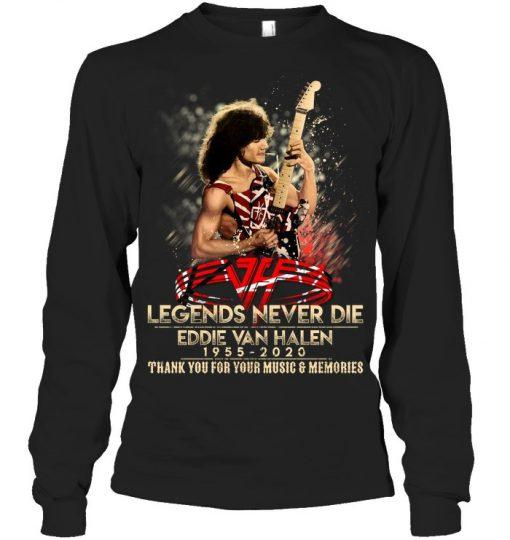 Eddie Van Halen 1955-2020 Legends Never Die long sleeve