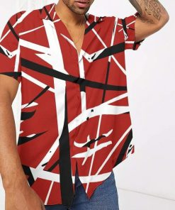 Eddie Van Halen Guitar Pattern Hawaiian Shirt3