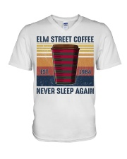 Elm Street Coffee Never Sleep Agian Est 1984 v-neck