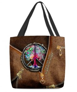 Every little thing is gonna be alright as leather zipper tote bag 2