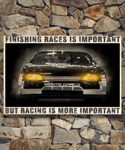 Fishing races is important but racing is more important poster 3