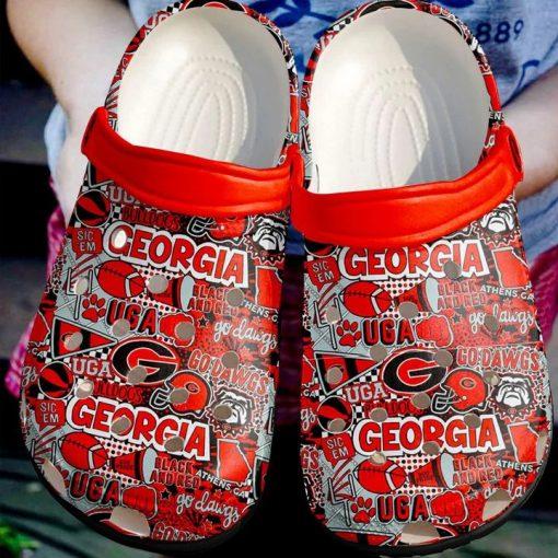 Georgia Crocs Crocband Clog