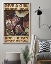 Give a girl the right shoes and she can conquer the world Cowgirl poster 2