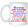 God bless the pastor who survived online church services empty pews zoom prayers oh yes the 2020 global crisis mug