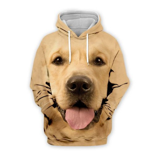 Golden Retriever Dog 3D All Over Printed Hoodie