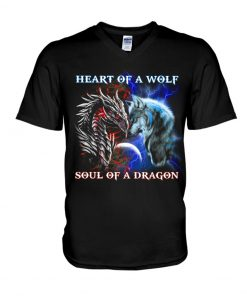 Heart of a wolf soul of a dragon Long sleeve