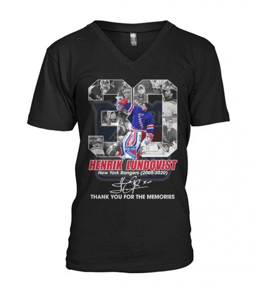Henrik Lundqvist New York Rangers 2005-2020 V-neck