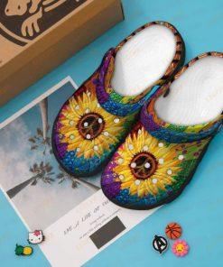 Hippie sunflower Crocs Crocband Clog