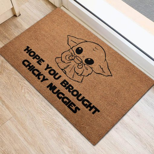 Hope you brought Chicky Nuggies Yoda Doormat