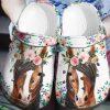 Horse Flowers Crocs Crocband Clog 1