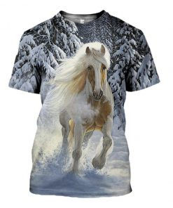 Horse Snow 3D All Over Printed shirt