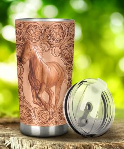 Horse as Leather Tumbler 1