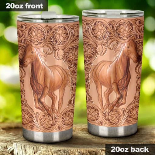 Horse as Leather Tumbler