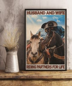 Husband and wife Riding partners for life poster2