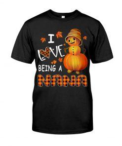 I Love Being A Nana - Pumpkin T-shirt