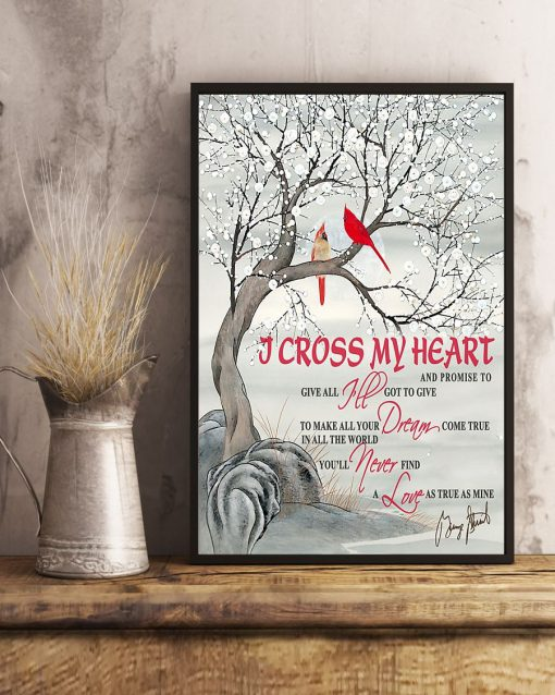 I cross my heart and promise to give all I've got to give poster1