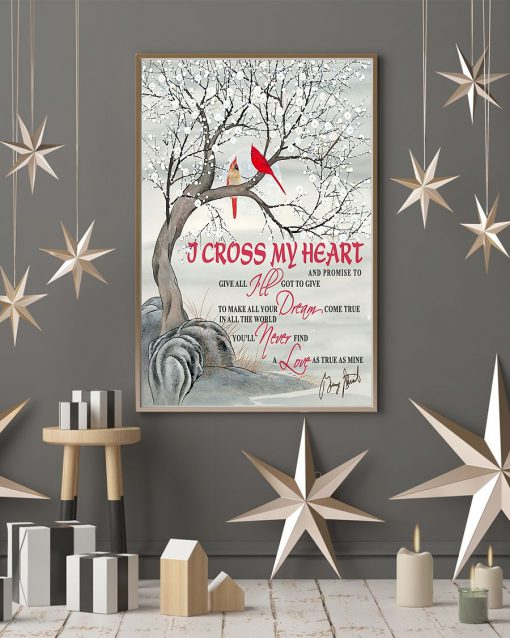 I cross my heart and promise to give all I've got to give poster2
