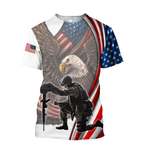 If You Haven't Risked Coming Home Under A Flag Don't you dare disrespect it US Veteran 3D All Over Printed Shirt