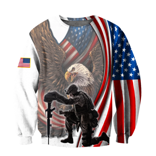 If You Haven't Risked Coming Home Under A Flag Don't you dare disrespect it US Veteran 3D All Over Printed Sweatshirt