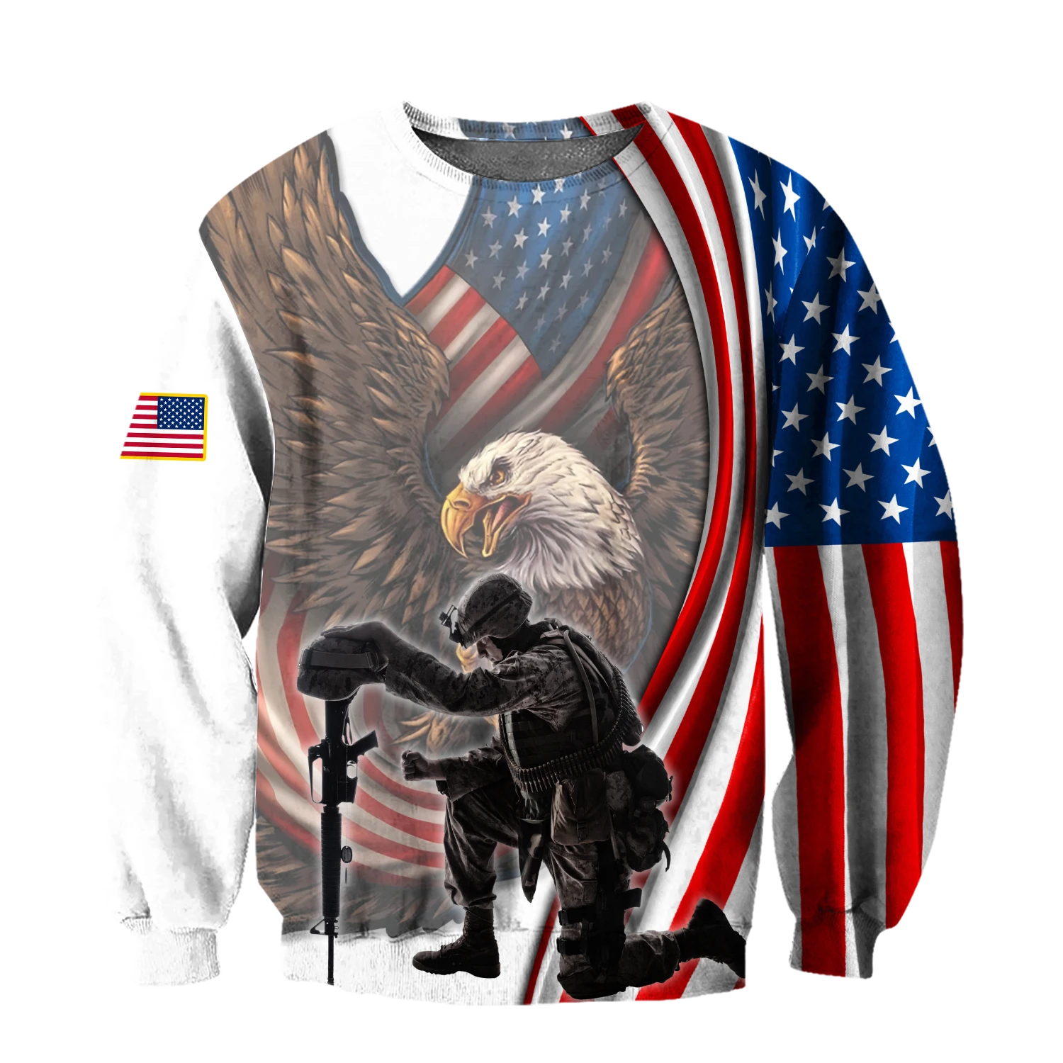 Hot Deal If You Haven't Risked Coming Home Under A Flag Don't you dare disrespect it US Veteran 3D All Over Printed Hoodie