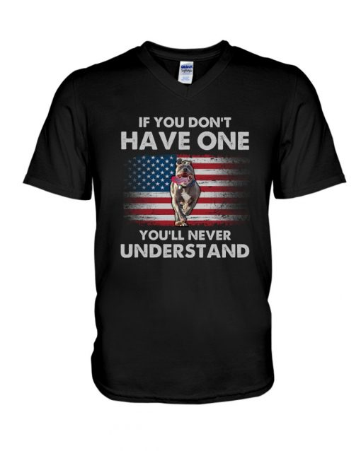 If you don't have one you'll never understand Pitbull American Flag V-neck