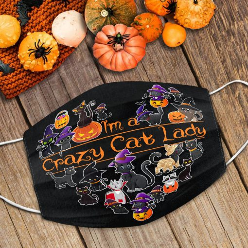 I'm a crazy cat lady Halloween face mask 1