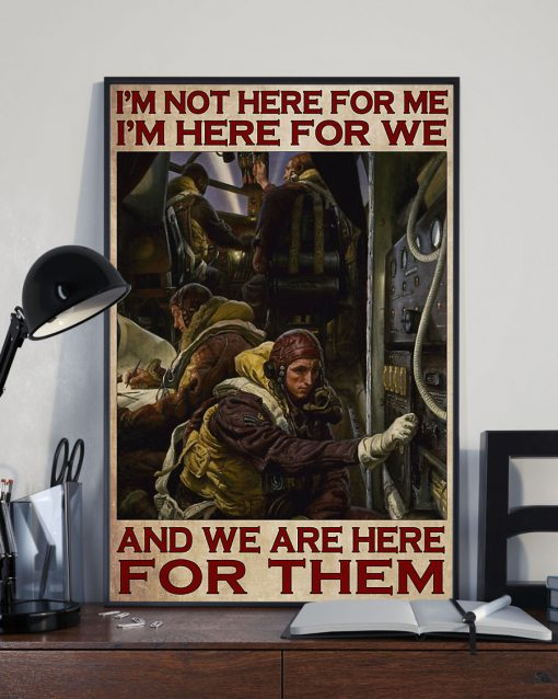 I'm not here for me I'm here for we and we are here for theme Pilot poster 2