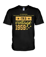 I'm wearing this shirt to let you know that I'm a vintage 1959 v-neck