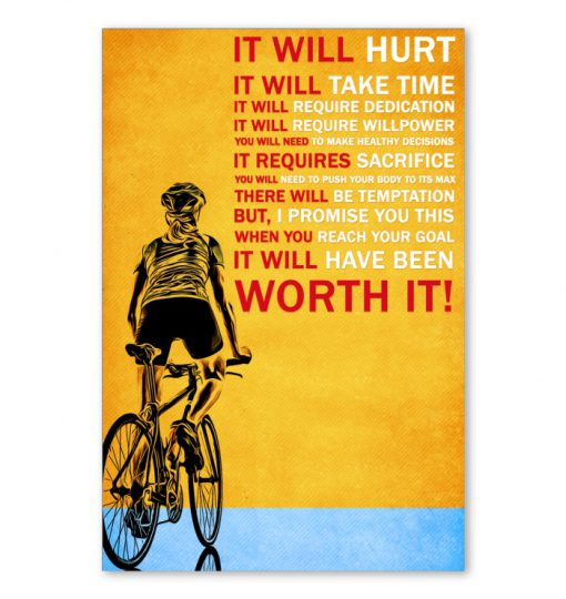 It will hurt It will take time Bicycle poster
