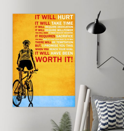 It will hurt It will take time Bicycle poster1
