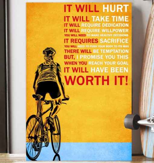 It will hurt It will take time Bicycle poster2