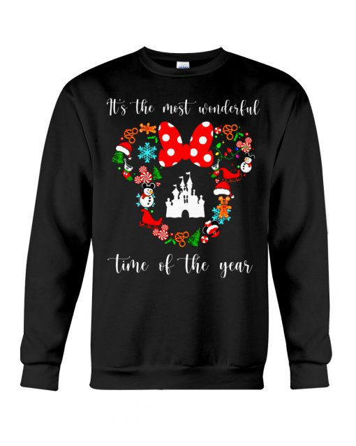 It's the most wonderful time of the year Disney Christmas sweatshirt