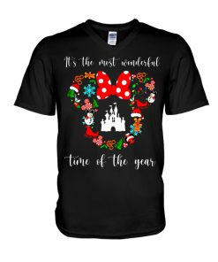 It's the most wonderful time of the year Disney Christmas v-neck