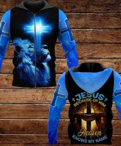 Jesus Because Of Him Heaven Knows My Name Lion 3D All Over Print Hoodie2