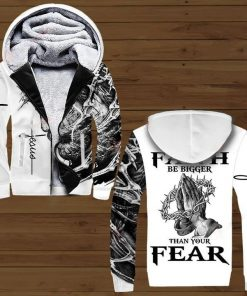 Jesus Let your faith be bigger than your fear 3D All over print hoodie3