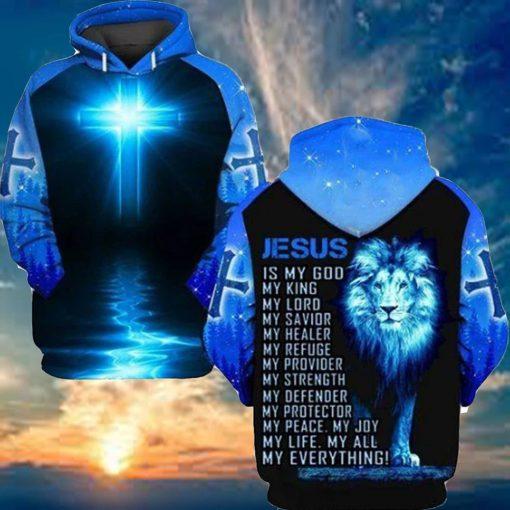 Jesus is my god my king my lord my savior my healer Lion 3D hoodie