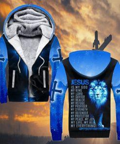 Jesus is my god my king my lord my savior my healer Lion 3D hoodie2